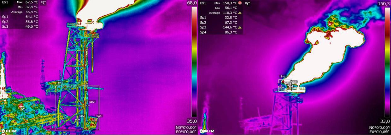 inspection thermique pétrochimie par drone