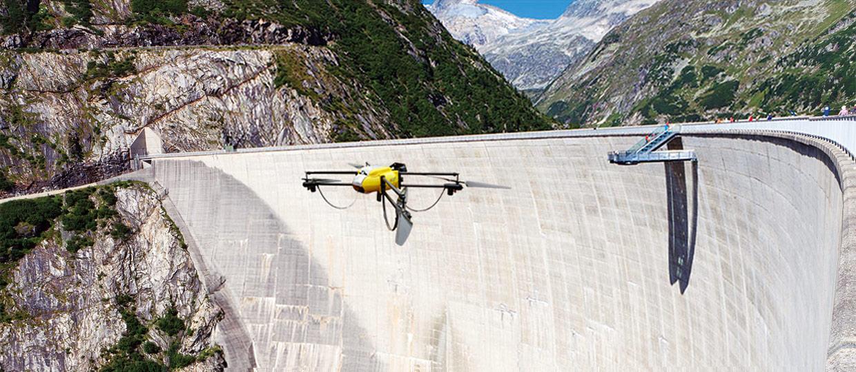 inspection barrage hydroélectrique par drone