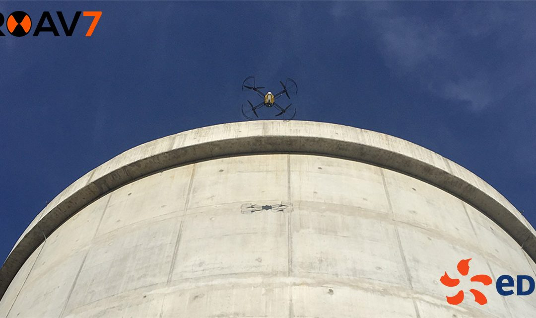 ROAV7 completes an UAV inspection of a nuclear concrete infrastructure at 0.3 mm per pixel
