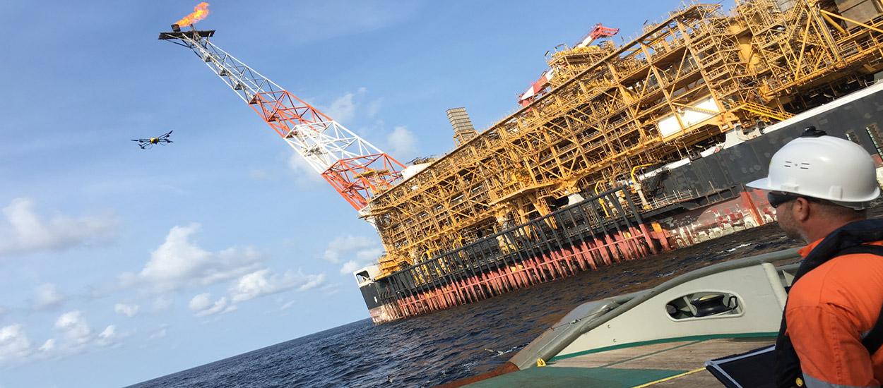 infrastructure offshore et maritime inspection par drone