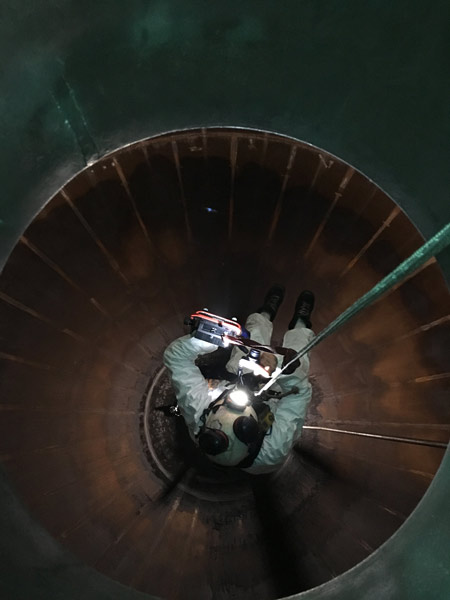 Inspection interne sphère