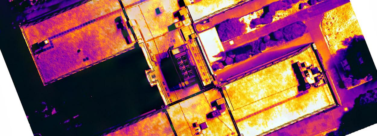 inspection thermique par drone pétrochimie