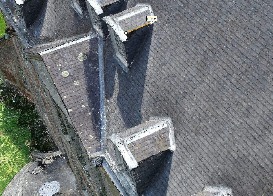 Inspection de bâtiments et toitures par drone