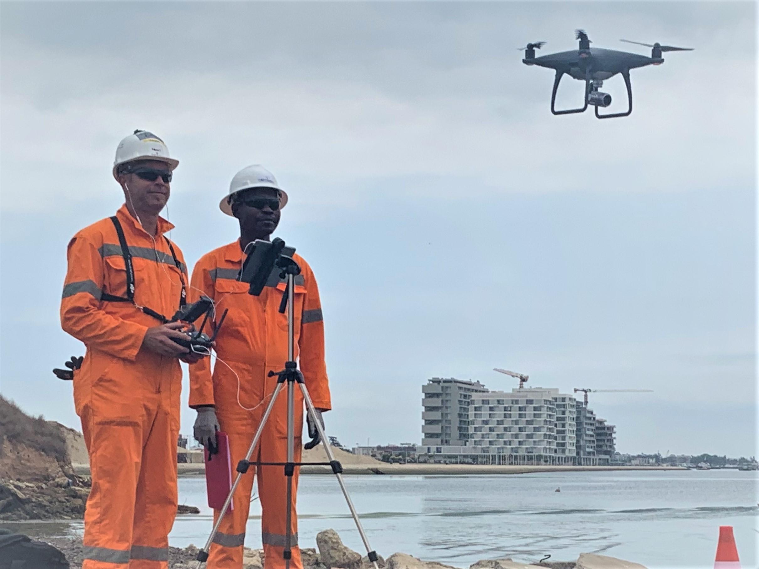 Opération acquisition par drone photos et vidéos aériennes